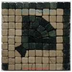 "Harbor (green), Honed Mosaic Tile Listello Corner 4"" x 4"""